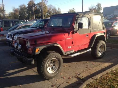 1998 Jeep Wrangler Soft Top MANUAL Transmission
