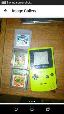 1998 Nintendo Gameboy Color and Games for Sale in Lexington