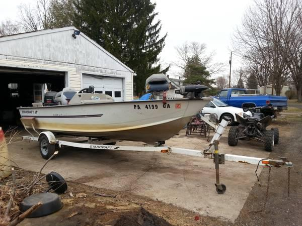 1998 Starcraft 16 foot fishing boat 50 hp FOUR STROKE