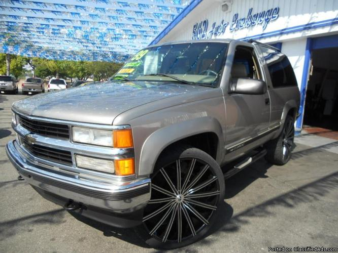 1999 chevy tahoe 2 door for sale in bellflower california classified. Black Bedroom Furniture Sets. Home Design Ideas