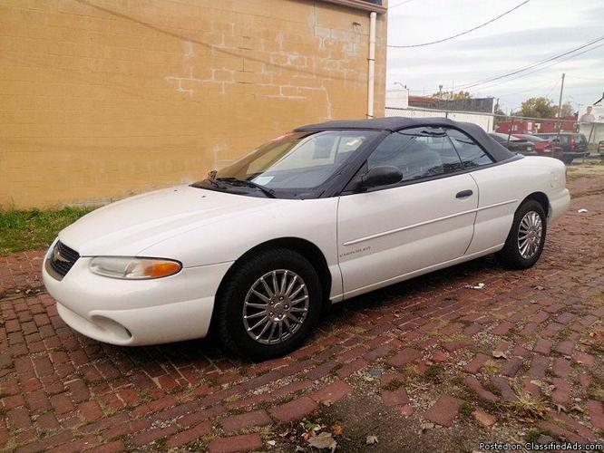 1999 chrysler sebring jx convertible for sale in cleveland. Cars Review. Best American Auto & Cars Review