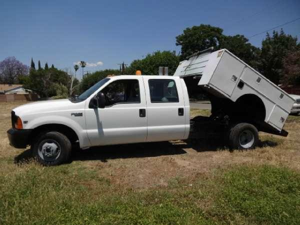 1999 ford 99 39 ford f 350 crew cab diesel utility dump for sale in northridge california. Black Bedroom Furniture Sets. Home Design Ideas