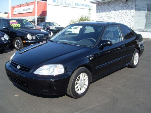 1999 honda civic ex black coupe very reliable good on gas for sale in gold river california. Black Bedroom Furniture Sets. Home Design Ideas