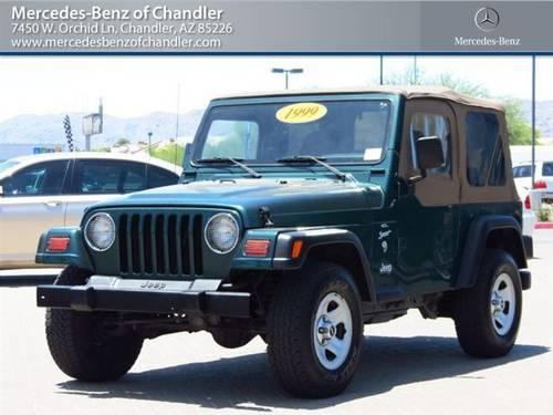 1999 jeep wrangler coupe 2dr sport 4x4 coupe for sale in for Mercedes benz of chandler az