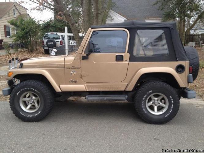 1999 jeep wrangler sahara for sale for sale in. Black Bedroom Furniture Sets. Home Design Ideas