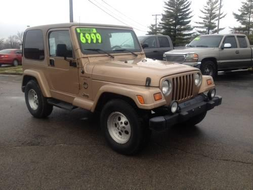 1999 jeep wrangler sahara with hard top for sale in dayton ohio classified. Black Bedroom Furniture Sets. Home Design Ideas