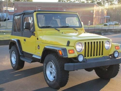 1999 jeep wrangler sport utility sahara for sale in raleigh north carolina classified. Black Bedroom Furniture Sets. Home Design Ideas