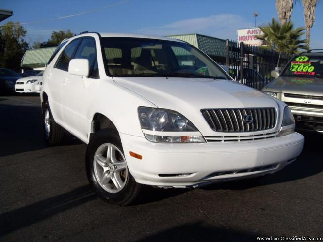 Lexus Credit Card >> 1999 LEXUS RX300 WHITE FULLY LOADED WHITE 108K MILES GAS SAVER for Sale in Gold River ...