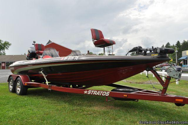 Stratos Boats For Sale >> 1999 STRATOS 21' SS EXTREME! TOURNAMENT BASS BOAT PACKAGE ...