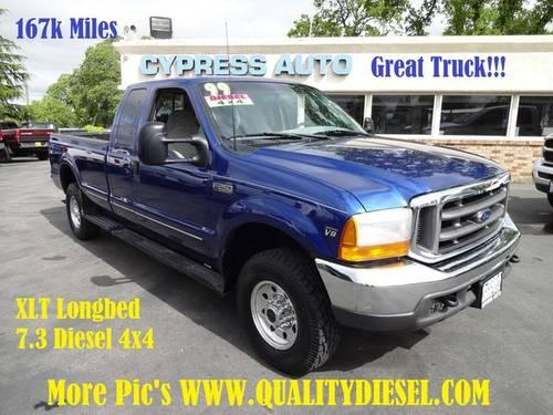 1999 ford f250 super cab l bed 7 3 diesel 4x4 truck xlt for sale in auburn california. Black Bedroom Furniture Sets. Home Design Ideas