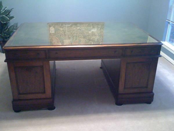 19th Century Antique Partners Desk - $1500 - 19th Century Antique Partners Desk - For Sale In Prosper, Texas