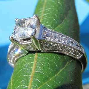 2.02 Ct PRINCESS Diamond ENGAGEMENT U0026 WEDDING Ring SET