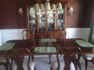 beautiful thomasville 10 pc dining room set cherry for sale in