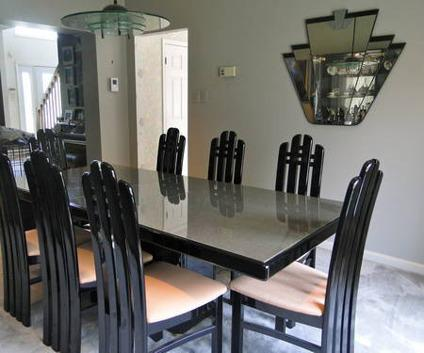 contemporary italian lacquer dining room set for sale in