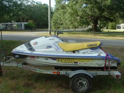 Obo 1996 yamaha 700 modifid jet ski for sale in new port for Used yamaha jet ski sale