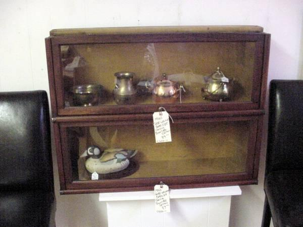 2 ANTIQUE GLOBE WERNICKE BARRISTER STACKABLE BOOKCASE - $149