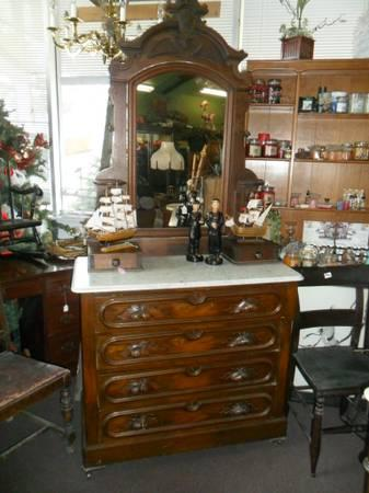 antique marble top dresser roll top desk for sale in North Carolina Classifieds & Buy and  antique marble top dresser
