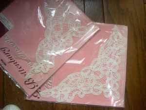 2 Battenburg Large Lace Inserts - $10 (New Middletown)