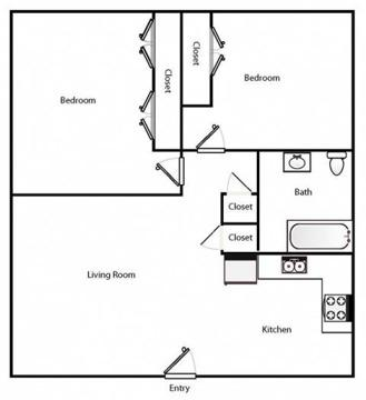 2 Beds - Brinkhaven Apartments