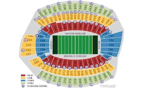 2 Bengals Season Tickets, 9th Row Side Line Corner. -