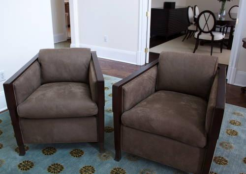 2 Bill Sofield Salon Chairs Baker Furniture Barry Brown