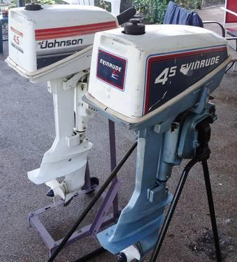 2 boat motors johnson evinrude or for Johnson evinrude outboard motors for sale
