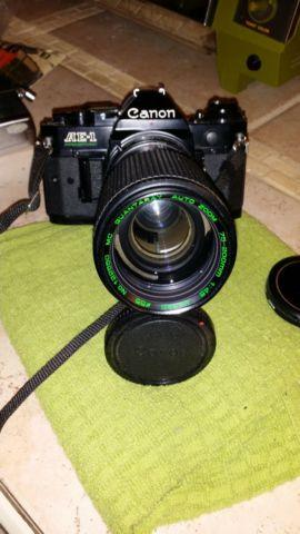 2 Canon AE1 Programs, 4 Lens, Data Back,Power Winder