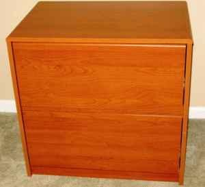 2 Drawer Wood Grain Lateral Filing Cabinet - $25 (N