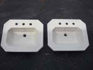 2 Drop In Bathroom Sinks Biscuit Color Mcminnville For
