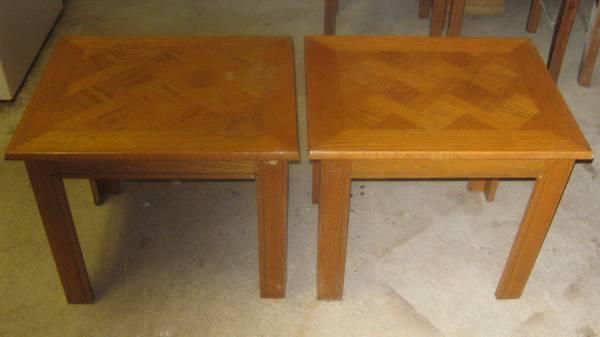2 End Tables - $15