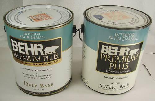 2 Gallon Behr Premium Plus Interior Satin Enamel Paint