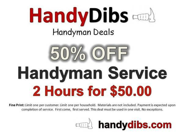 2 Hours of Handyman Service for $50