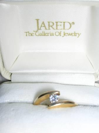 2 JARED Engagement RINGS 14 YG; can be resized for free