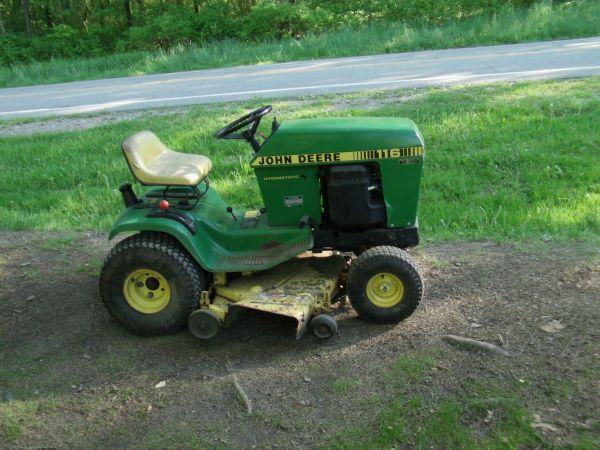 John Deere 116 Snow Plow : John deere ridding lawn mowers oil city pa for sale
