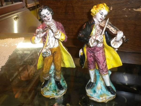 2 majolica artist figurine consignment on primary for sale in conway south carolina. Black Bedroom Furniture Sets. Home Design Ideas