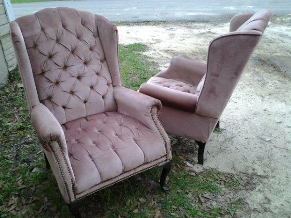 2 matching antique chairs (make an offer) - $100