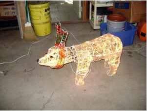 2 or 3 foot animated lighted polar bear christmas decor for Animated polar bear christmas decoration