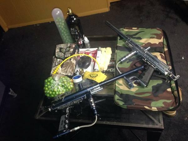 2 PAINT BALL GUNS PLUS EXTRAS - $160