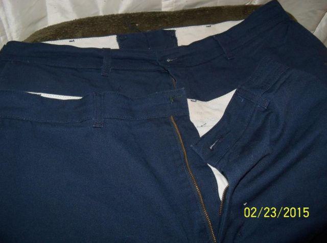 2 Pair Mens Red Kap Blue Work pants Good Condition