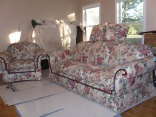 2 pc living room sofaarm chair bassett furniture