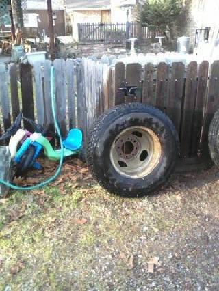 2 RIMS with TIRESLT23585R16 from 1 ton 95 Chevy Dually - $275