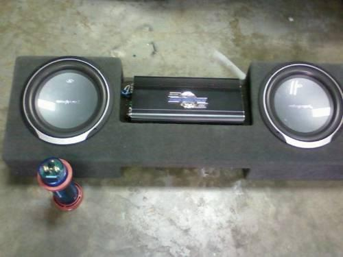 2 Rockford Punch 12 subs in a box  Amp  Cap  Like new - $500 Hano