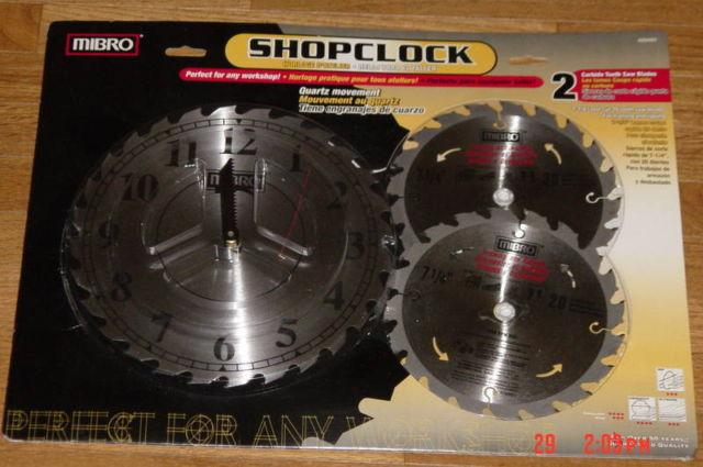 2 Saw Blades gift set with Saw Blade Clock