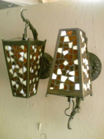 2 sconce lights 4 designs REAL GLASS