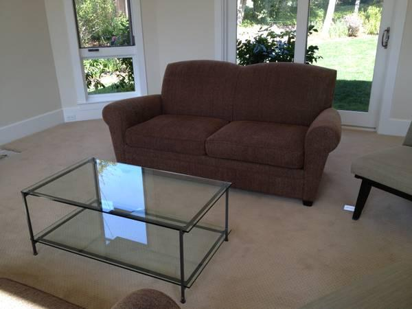 2 sofas and coffee table - $450