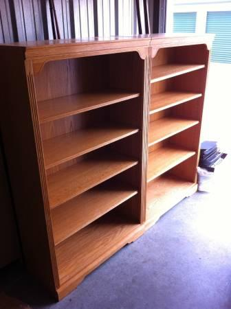 2 Solid Wood Bookcases For Sale In Collington North