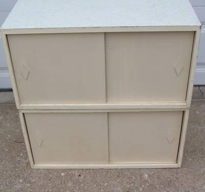 2 stackable sliding door storage cabinets for sale in for Affordable furniture dubuque