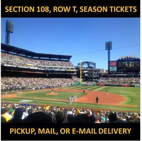 2 Tickets Pirates vs Brewers 6/8 6/9 Mon & Tues Sec 108