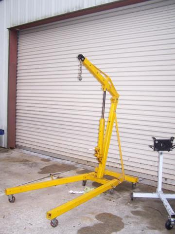 2 ton folding motor crane and engine stand