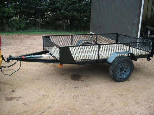 2 Utility Trailers 5x8 And 5x10 For Sale In Rozellville Wisconsin